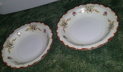 Lot of 2 Harmony House Fine China Wembley Rimmed Fruit Dessert Small Bowl 5 1/2""