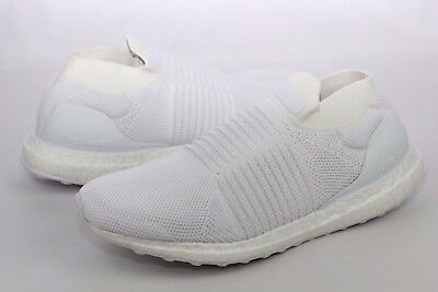 704903a1e1166 Adidas UltraBOOST Laceless White Running Shoes Mens Size 11.5 NIB S80768