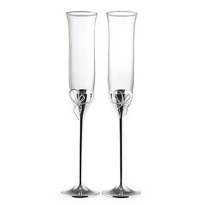 NEW Vera Wang Love Knots Toasting Flutes Pair. On Special!