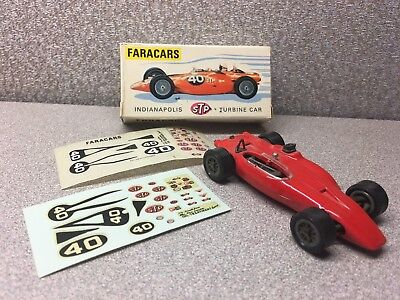 Faracars 101 - Red 1967 Stp Turbine Indianapolis 500 Racer 1:43 In Original Box
