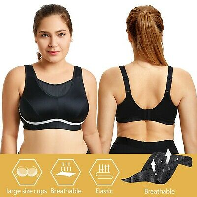 Women's Plus Size High Impact No-Bounce Full Coverage Wire Free Sports Bra