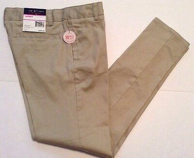 French Toast Girls School Uniform Pants Skinny Adj Waist Beige Size 12  NWT