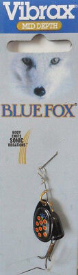 Blue Fox Vibrax Spinner size 1, 4 grams – Black/Red Spot, Trout Redfin Lure