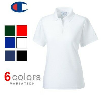 """100% Cotton Ladies Branded """"CHAMPION"""" Polo Top Polo Shirt Quality Licensed Top"""