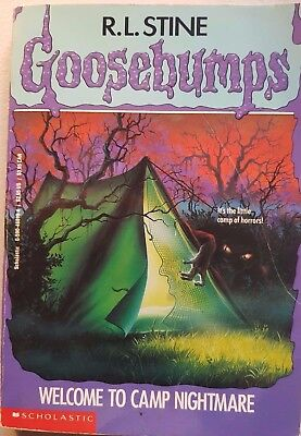 Goosebumps, #9 Welcome To Camp Nightmare, By R.L.Stine, GC~P/B  FAST~N~FREE POST