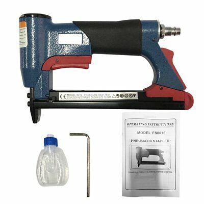 "1/2"" Fine Crown Nail Pneumatic Air Stapler Nailer Nail Staple Stapling Gun SL"