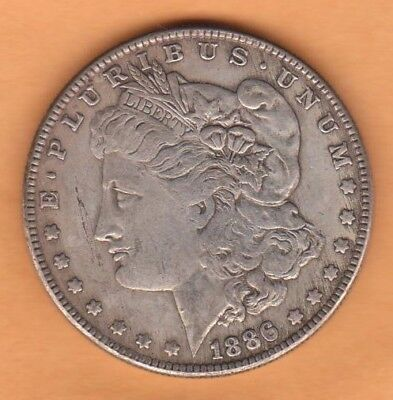 1886s US Morgan Dollar 90% Silver Coins