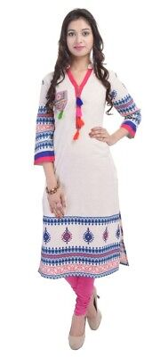 Bollywood Ethnic Designer Cotton Printed Indian Kurti Kurta For Women 2509