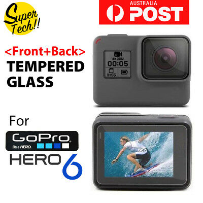 2pcs Lens Protector+Screen Protector Tempered Glass for GoPro Hero 6 7 Camera