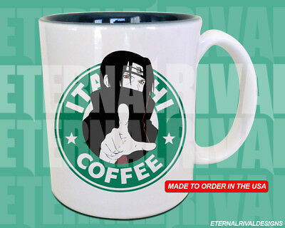 Itachi Uchiha Starbucks Anime Manga Japanese Insipred Cartoon Geek Nerd Mug