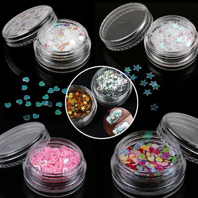 Colorful Lucky Star Glitter Dust Powder Sheets Nail Art 3D Manicure Decoration