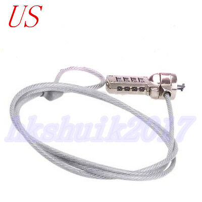 Nwe Laptop Security Anti stealing COMBINATION LOCK Cable Kensington Slot