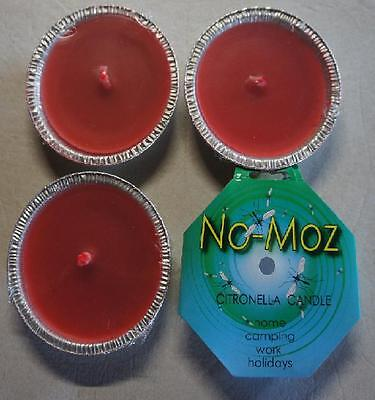 4X  No Moz Citronella Insect Candles