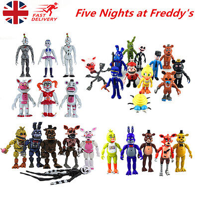 5/6/11/12Pcs FNAF Five Nights At Freddy's LED Light Action Figures Toys Kid Gift