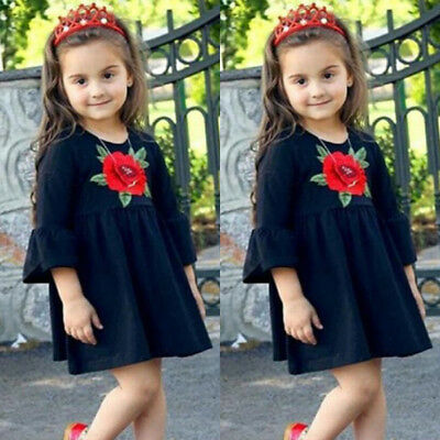 Baby Girl Floral Dress Kids Party Wedding Pageant Dresses Sundress Clothes 1-6T