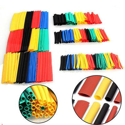 New 328 Pcs 5 Colors 8 Sizes Assorted 2:1 Heat Shrink Tubing Wrap Sleeve Kit ST