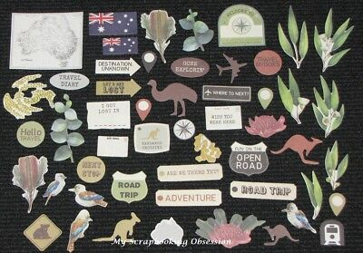 Kaisercraft 'OPEN ROAD' Collectables Die Cut Shapes Australia/Outback KAISER