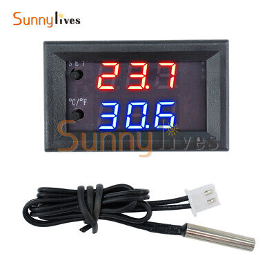 W1209WK DC12V Digital thermostat Temperature Control Sensor NTC10K 1% 3950 Cable
