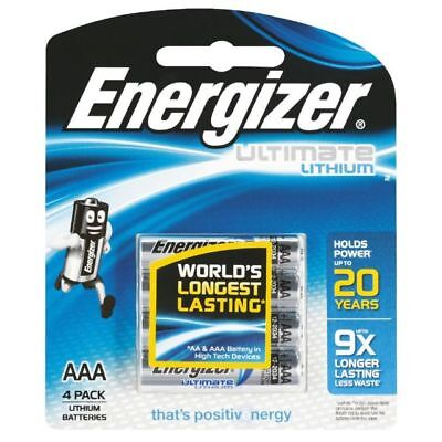 ENERGIZER  AAA Ultimate Lithium Batteries 4 Pack - Up To 9 Times Longer Lasting
