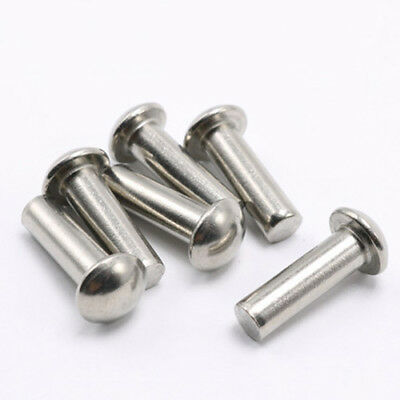 M8 stainless steel rivets half round head solid percussion rivet 10-100mm Length