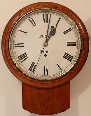 London S.e  Railway No 364 Fusee Drop Dial Clock Sweep Second Regulator