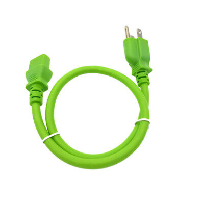 Green 2FT AC POWER SUPPLY CORD CABLE PLUG FR MICROSOFT XBOX 360 CHARGER ADAPTER