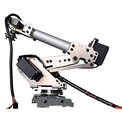 Stainless Steel 6-Axis Robot Arm ABB Model Manipulator with MG996R MG90S Serovs