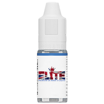 Elite Liquid UK Made 10ml e liquid vape juice 0mg 3mg 6mg 12mg 18mg 43 flavours
