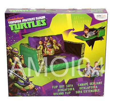 Teenage Mutant Ninja Turtles Kids Boys Inflatable Flip Out Sofa - 2 Person New