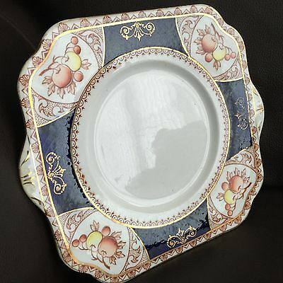 Early Antique Gold Gilded Royal Vale English Bone China Cake Plate (Circa 1913)