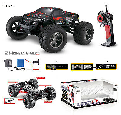 NEW 1/12 2.4G Remote Control Off-Road RACING Monster Truck High Speed RTR RC Car