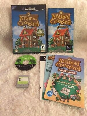 Animal Crossing COMPLETE Black Label w/ Manual & Memory Card in case Gamecube