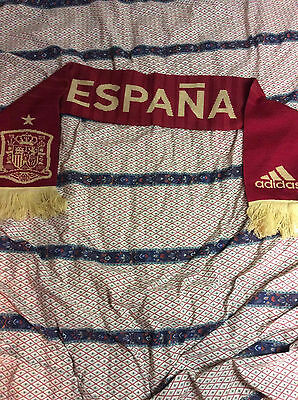Spain Football Scarf Adidas La Roja Espana Brand New! Spanish National Team