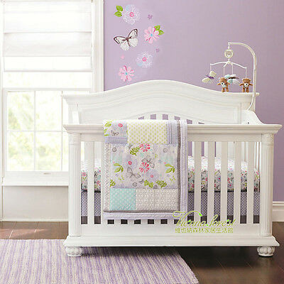 4 Piece Dreamy Butterfly Baby Crib/Cot Bedding Set - Everything You Need!!!
