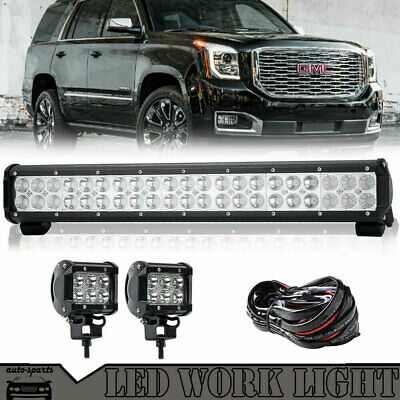 "22"" 120W Barre à LED Bar Spot Flood SUV jeep truck work light bar 4x4 20 ICNH"