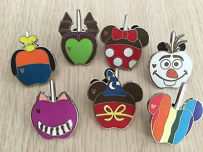 Disney Pins CANDY APPLE CHARACTER PINS-7 pins AS SHOWN - Fast Shipping-US Seller
