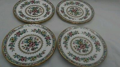 vtg. Lot of 8 Coalport Ming Rose bread or butter plates 6 1/8 inches excellent