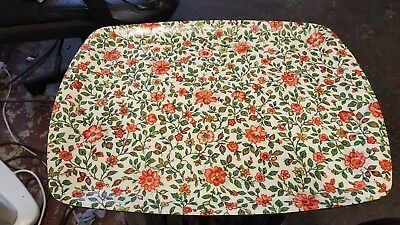 Large Vintage Retro  Flower Power 70's Thetford Camping Kitsch Tray