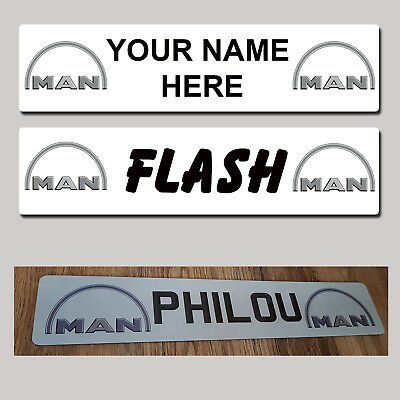 MAN Lorry Truck Trucker Windscreen SHOW PLATES Name Sign personalised - MTP
