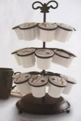 Longaberger Wrought Iron Beverage Coffee Carousel K Cup KEurig Holder New In Box