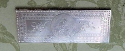 Antique Chinese Mother Of Pearl Etched Gaming Gambling Check Token Counter