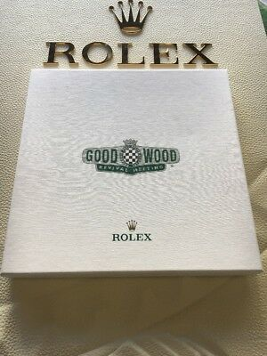Rolex Goodwood Revival 2017 Chequered Flag Scarf & Linen Handkerchief Set BOXED
