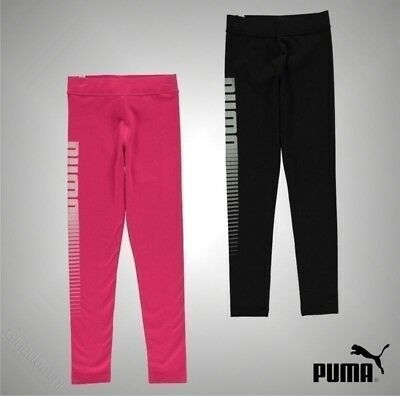 Girls Puma Stretch Fit Logo Printed Leggings Sizes Age from 7 to 13 Yrs