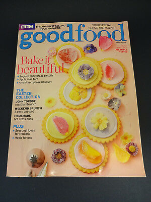 BBC Good Food Magazine: March 2016: Easter: Flowers: Rhubarb: Hot Cross Buns
