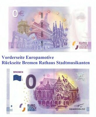 0 euro souvenir schein banknote bremen rathaus stadtmusikanten bilderrahmen picclick de. Black Bedroom Furniture Sets. Home Design Ideas
