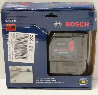 NEW - Bosch GPL 5 R Professional 5-Point Alignment Self Leveling Laser Level
