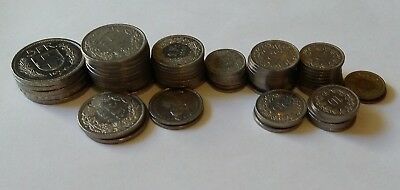 69.35 Swiss francs spendable coin lot
