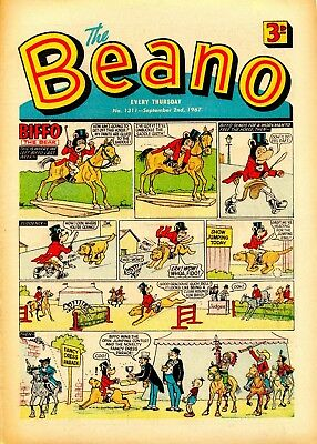 Beano Comic  September 2Nd 1967 1967. Great Xmas Present! Vg+ Condition