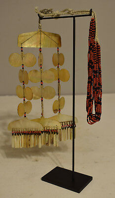 Philippines Sipattal Mother of Pearl Ineg Tribe Beaded Ceremonial Necklace