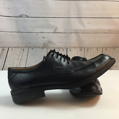 Ecco Mens Black Leather Oxford Lace Up Dress Shoes Eu 47 Us 13